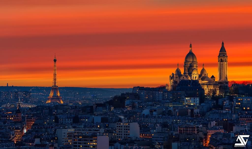 Beautiful-Sunset-at-Sacre-Coeur